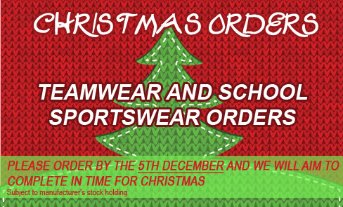 Christmas delivery - order by the 5th December!