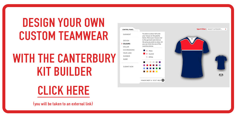 Canterbury Design your Own Custom Teamwear Kit Builder