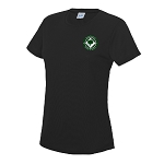 Balerno HS Girl's PE T-Shirt Jet Black