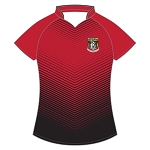 Waid Academy Ladies Lithium Hockey/Netball Top Flag Red/Black