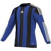 Adidas Striped 15 LS Jersey - Bold Blue/Black
