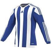 Adidas Striped 15 LS Jersey - Bold Blue/White