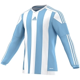 Adidas Striped 15 LS Jersey - Clear Blue/White