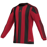 Adidas Striped 15 LS Jersey - Power Red/Black