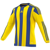 Adidas Striped 15 LS Jersey - Yellow/Bold Blue