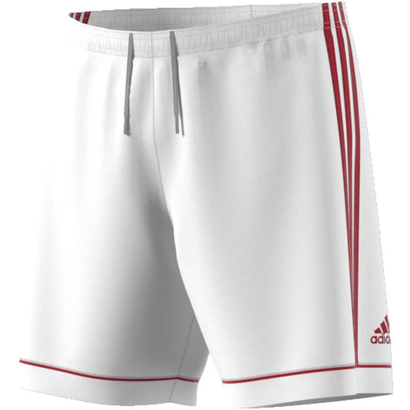 Adidas Squadra 17 Shorts - White/Power Red