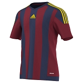Adidas Striped 15 SS Jersey - Collegiate Burgundy/Dark Blue/Yellow