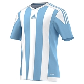 Adidas Striped 15 SS Jersey - Clear Blue/White