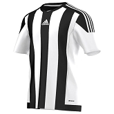 Adidas Striped 15 SS Jersey - White/Black