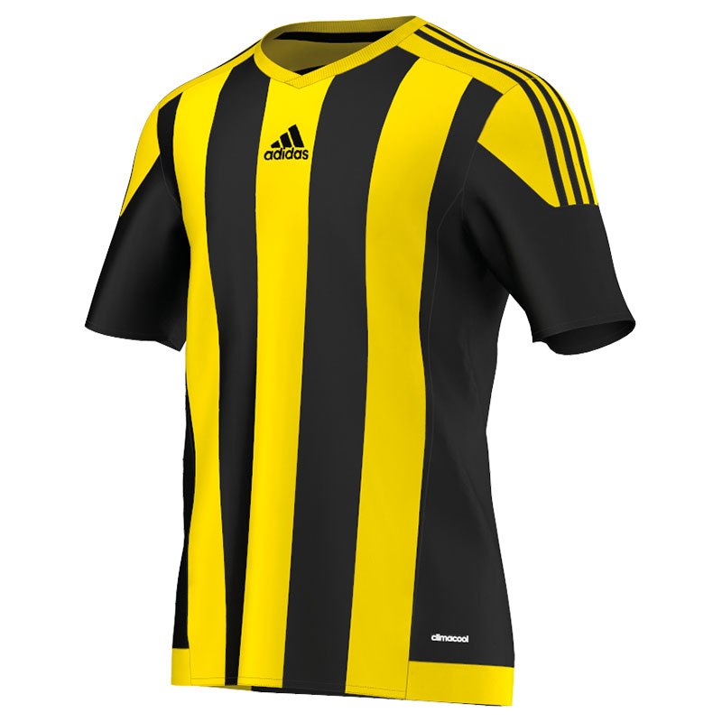 adidas striped 15 ss jersey black yellow. Black Bedroom Furniture Sets. Home Design Ideas