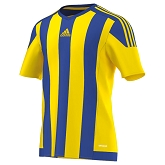 Adidas Striped 15 SS Jersey - Yellow/Bold Blue