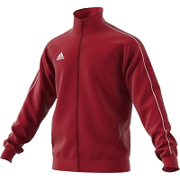 Adidas Core 18 Polyester Jacket - Power Red/White