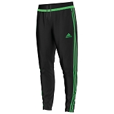 Adidas Tiro 15 Training Pant - Black/Flash Green/Black