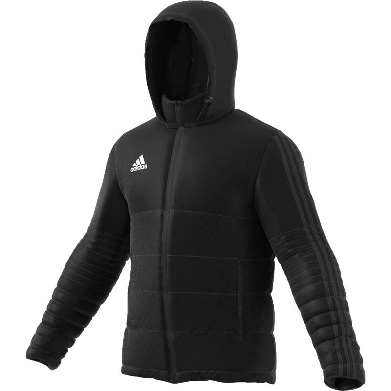 adidas tiro 17 winter jacket black white. Black Bedroom Furniture Sets. Home Design Ideas