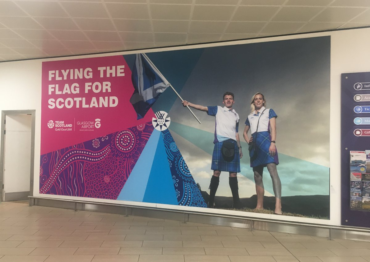 76b53cd7da88 PSL branding on display at Glasgow Airport