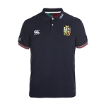 British & Irish Lions 2017 Vapodri Cotton Pique Polo Navy Mens