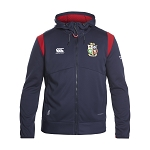 British & Irish Lions 2017 Thermoreg Fleece Full Zip Hoody Blue Mens