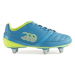Canterbury Phoenix Blu/Yel 6 Stud SG Rugby Boots Kids
