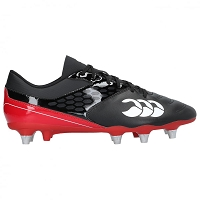 Canterbury Mens Phoenix Raze 2.0 SG Rugby Boots Black