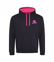 All Star Junior Netballers Black and Pink  Hoody