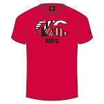 Biggar RFC Team CCC Logo T-Shirt Flag Red Senior