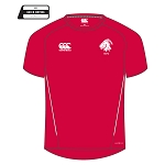 Biggar RFC Team Dry T-Shirt Flag Red/White Senior