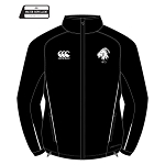 Biggar RFC Team Full Zip Rain Jacket Black/White Junior