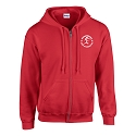 Bishopbriggs Acro Gymnastics - Zipped Hoody (Red)