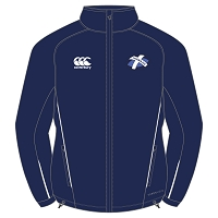 Caledonian Thebans RFC Team Full Zip Rain Jacket Navy