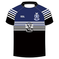 Dalziel RFC Junior Playing Jersey - Black/Royal/White