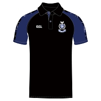 Dalziel RFC Performance Polo - Black/Royal/Tartan