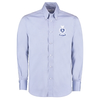 Dalziel RFC Premium Long Sleeve Tailored Oxford Shirt - Light Blue