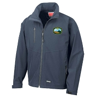 East Kilbride & District Young Farmers Club Base Layer Soft Shell Jacket Navy Mens