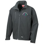 East Kilbride & District Young Farmers Club Base Layer Soft Shell Jacket Black Mens