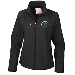 East Kilbride & District Young Farmers Club Base Layer Soft Shell Jacket Black Ladies