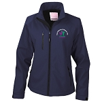East Kilbride & District Young Farmers Club Base Layer Soft Shell Jacket Navy Ladies