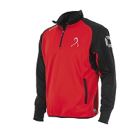 East Kilbride Hockey Junior Half Zip Training Top Red/Blk