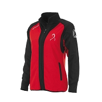 East Kilbride Hockey Ladies Full Zip Training Top Red/Blk