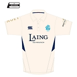 Edinburgh Accies Cricket Club Cricket Shirt Cream/Navy