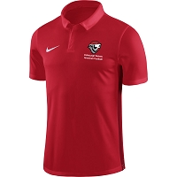 Edinburgh Wolves American Football Nike Academy 18 Polo - University Red/Gym Red/White