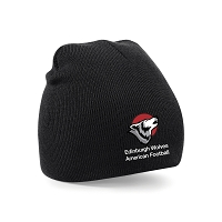 Edinburgh Wolves American Football Beanie - Black