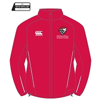 Edinburgh Wolves American Football Team Full Zip Rain Jacket - Flag Red/White