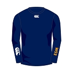 ESM Hockey Club Baselayer Cold Long Sleeve Top Navy Junior