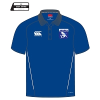 Glasgow Sharks Team Dry Polo Royal/White