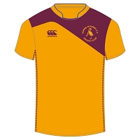 Harris Academy FP Hockey Club Away Match Jersey - Gold/Maroon