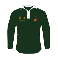 Hillhead Jordanhill 30th Anniversary Retro Rugby Shirt Green Male