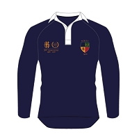 Hillhead Jordanhill 30th Anniversary Retro Rugby Shirt Navy Male