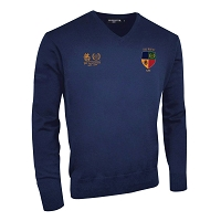Hillhead Jordanhill 30th Anniversary Club Supporters Lambswool  V-Neck