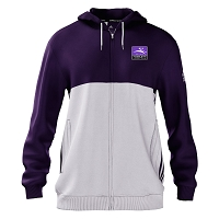 Inverleith Hockey Junior Full Zip Hoody Purple/White