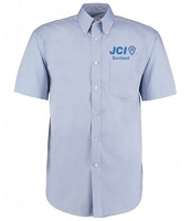 JCI Scotland Dress Shirt Short Sleeve Men's Light Blue